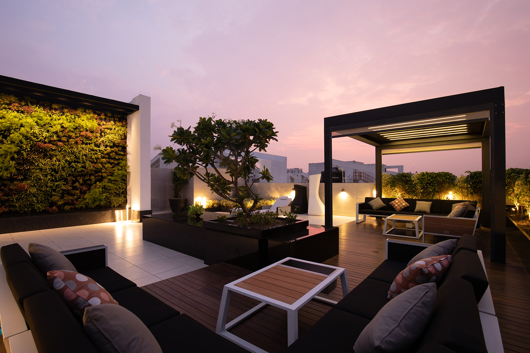 Main terrace at Twilight time